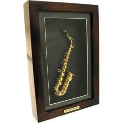 Mini sax onder glas