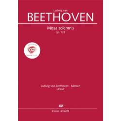 Beethoven - Missa Solemnis op.123. Réduction chant et piano