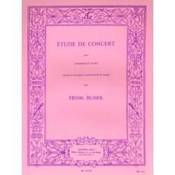 Busser - Etude de concert pour trombone et piano