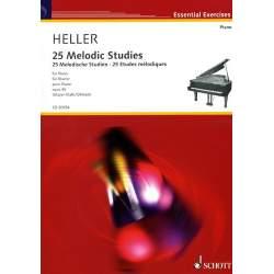 Heller - 25 études mélodiques pour piano