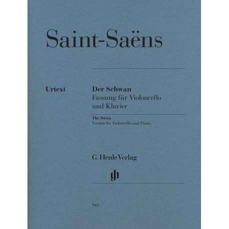 Saint-Saëns - The swan for cello and piano (Ed  Henle)