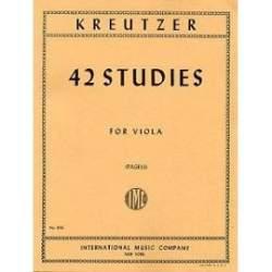 Kreutzer - 42 études pour alto