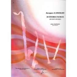 Lancelot - 20 études faciles pour clarinette