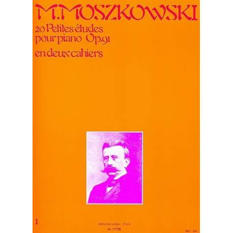 Moszkowski - 20 small studies op 91 for piano (Ed  Leduc)