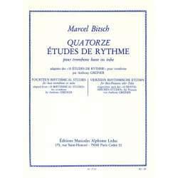 Bitsch - 14 Etudes de rythme pour trombone basse ou tuba