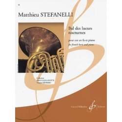 Stefanelli - Bal des lueurs nocturnes pour cor en fa et piano