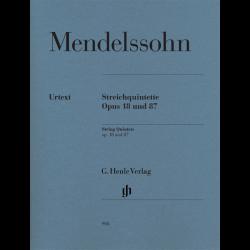 Mendelssohn - Quintettes à Cordes Op. 18 et 87