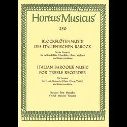 Musique italienne baroque pour flûte à bec alto