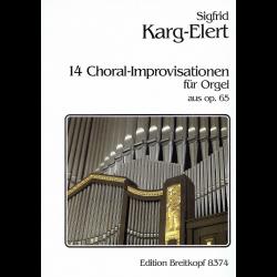 Karg-Elert - 14 Chorals Improvisations pour orgue