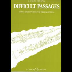"""Bach - """"difficult passages"""" pour le hautbois, le hautbois d'amour ou le oboe da caccia (cor anglais)"""