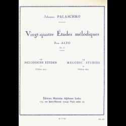 Palaschko - Vingt-quatre études mélodiques op.77  pour alto