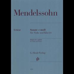 Mendelssohn - Sonate en do mineur pour alto et piano
