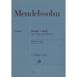Mendelssohn - Sonate in c minor voor altviool en piano