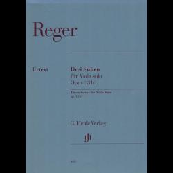 Reger - Trois suites op.131d pour alto seul.