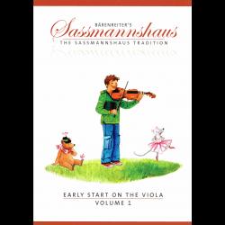 Sassmannshaus - Early start on viola in 4 boeken ( voor altviool)