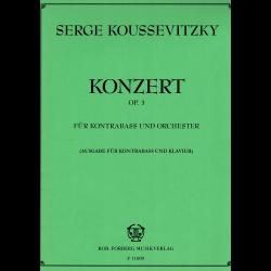 Koussevitzky - Concerto op.3  pour contrebasse et piano