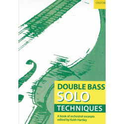 Double bass solo technique