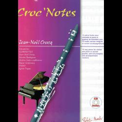 Crocq - Croc'notes - clarinette et piano, quatuor clarinettes (CD)