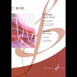 Rose - 32 études d'après Ferling - clarinette