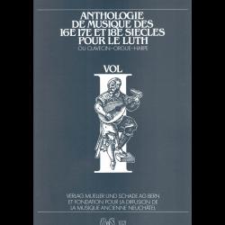 Anthologie musique 16è, 17è et 18e -luth/clavecin/orgue/harpe