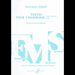 Jollet - Texte pour L'harmonie