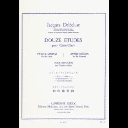 Delécluse - 12 Etudes - caisse claire
