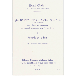 Challan - 380 Basses et Chants - éléments de réalisation - harmonie