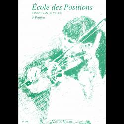 Van de velde - Ecole des positions - violon 2ème position