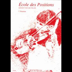 Van de velde - Ecole des positions - violon 5ème position