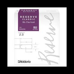 Anches D'addario Reserve Classic clarinette si b (10)