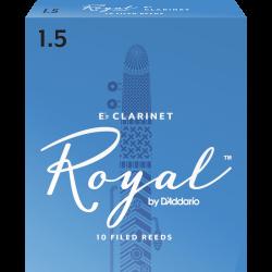 Anches (10) D'addario Royal clarinette mi b