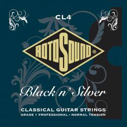 """Cordes RotoSound CL4 """"Black n' Silver"""" pour guitare classique"""