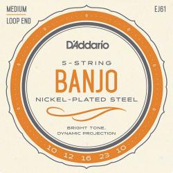 Jeu (5) D'addario Nickel pour banjo