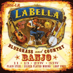 Jeu (4) LaBella pour banjo ténor