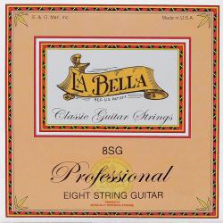 Jeu LaBella 8SG pour guitare classique 8 cordes
