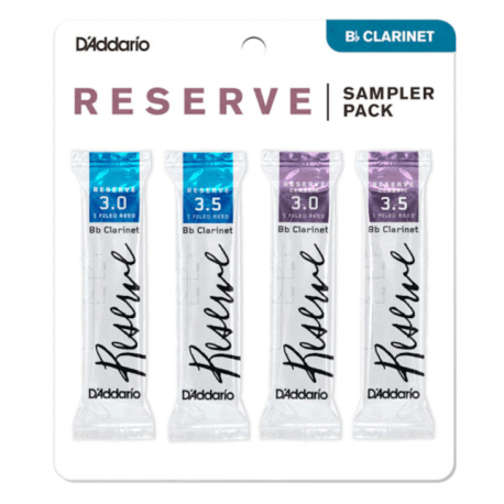 Pack d'anches de test D'addario Reserve pour clarinette