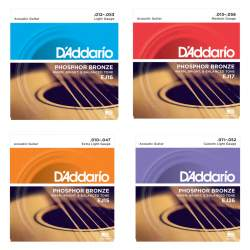 D'addario Phosphor Bronze string set for acoustic guitar