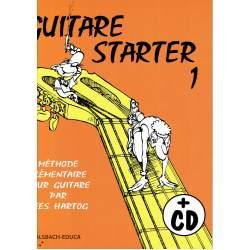 Hartog - Guitare Starter 1 - Méthode élémentaire + CD