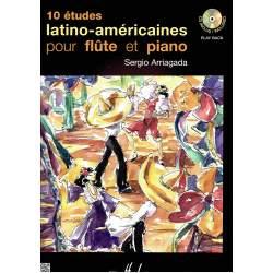 Arriagada - 10 Etudes latino-américaines Pour flûte et piano
